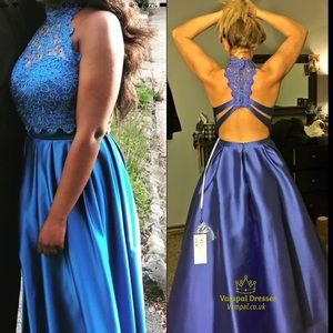 Two piece prom dress /Royal Blue